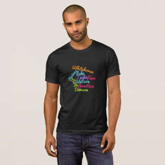 Yukon Territory Cities And Towns Word Cloud Tshirt