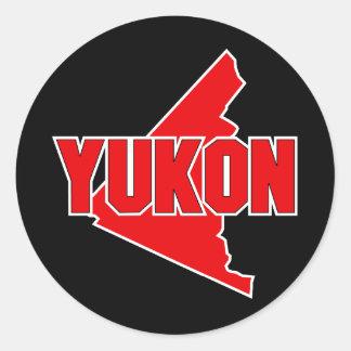 Yukon Territory Classic Round Sticker