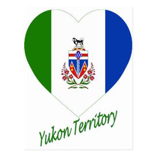 Yukon Territory Flag Heart with Name Postcard