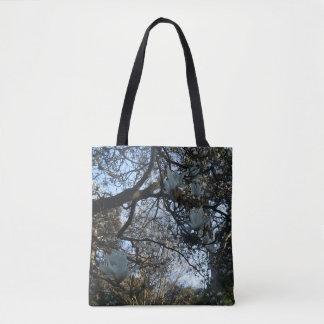 Yulan Magnolia All Over Print Tote Bag