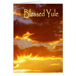 Yule, Blessed Yule Card