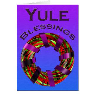 Yule Blessings - Wreath Card