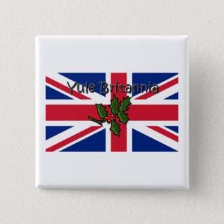 Yule Britannia 2 Inch Square Button