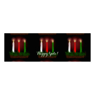 Yule Candles Winter Solstice Gift Labels Gift Tags Mini Business Card