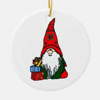 Yule Gnome Ceramic Ornament