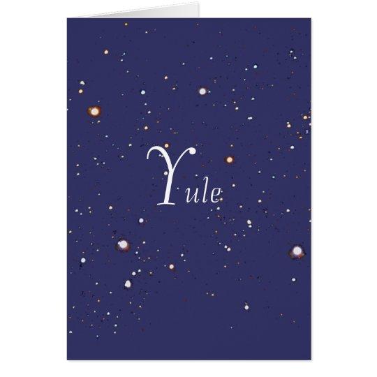 Yule, in the stars card
