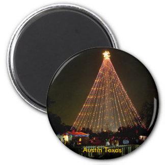 Yule Log, Austin Texas 2 Inch Round Magnet