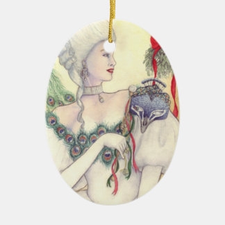 Yule Masque Ornament by Mary Layton