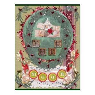 Yule Moon Postcard
