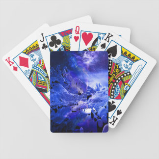 Yule Night Dreams Bicycle Playing Cards