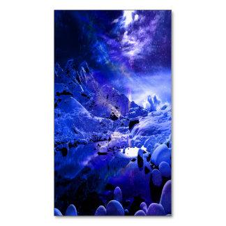 Yule Night Dreams Magnetic Business Card