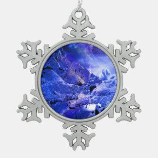 Yule Night Dreams Pewter Snowflake Ornament