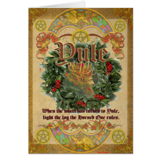 Yule Pagan Greeting Card