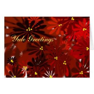 Yule Peace- Poinsettia Card