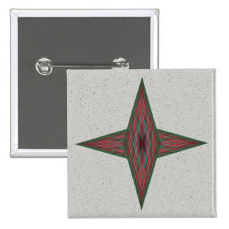 Yule Star 2 Inch Square Button