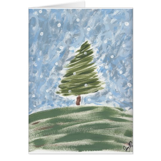 Yule Tide Greeting Card, Std white envelopes incl Card