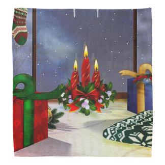 Yule Time Reflections Holiday Art Head Kerchiefs
