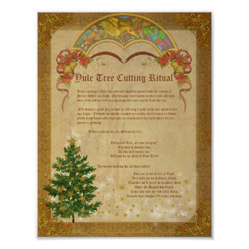 YULE TREE CUTTING RITUAL POSTER