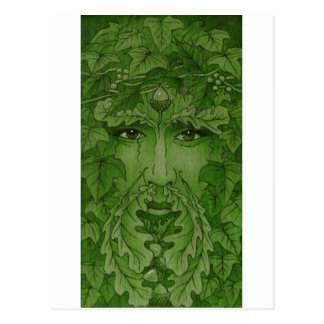 yuleking green postcard