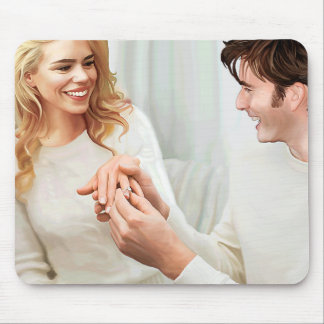 Yuletide Engagement Mouse Pad