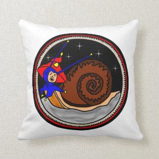 Yuletide Faerie Snail Throw Pillow