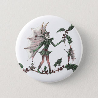 Yuletide Fairy Gifts for the Holiday 2 Inch Round Button