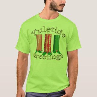 Yuletide Greetings - Candles T-Shirt