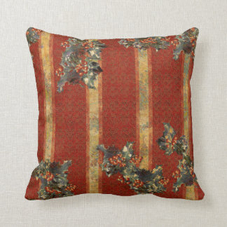 Yuletide Holly Throw Pillow