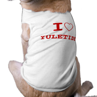 YULETIDE I heart (love) Pet Clothing