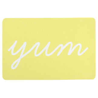 Yum funny kitchen cook chef bon appetit saying floor mat