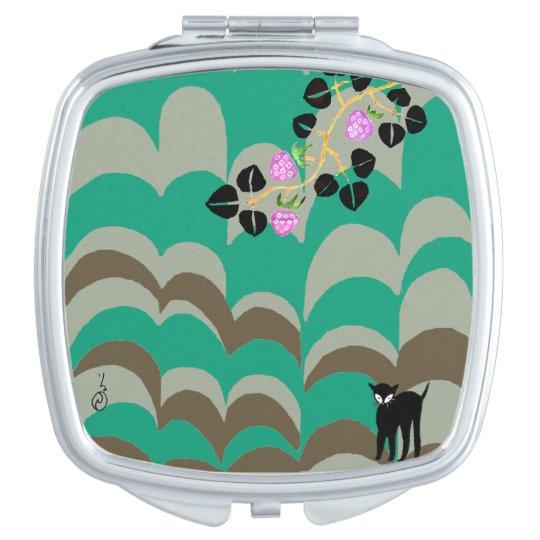 YUMEJI Compact Mirror Stripe&Strawberry dream two