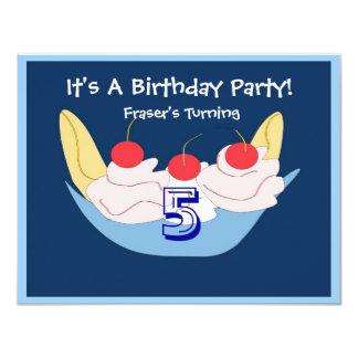 Yummy Banana Split Birthday Party Invitation