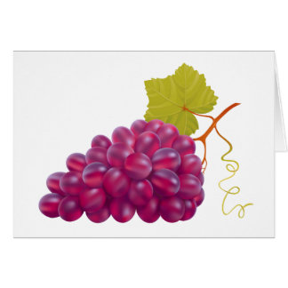 Yummy Bunch Of Red Grapes Card