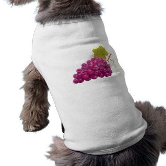 Yummy Bunch Of Red Grapes Dog Tee Shirt