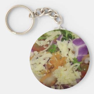 Yummy Cheese Salad Basic Round Button Keychain