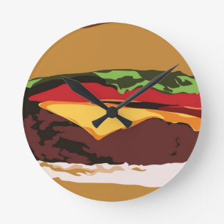 Yummy Cheeseburger Clock