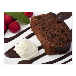 Yummy Chocolate Cake Postcard