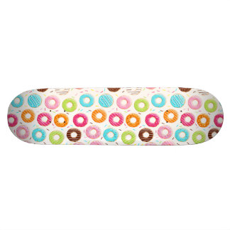 Yummy colorful sprinkles donuts toppings pattern skateboard