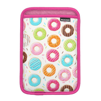 Yummy colorful sprinkles donuts toppings pattern sleeve for iPad mini