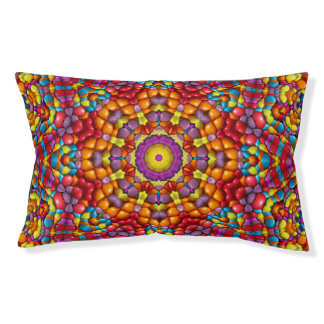 Yummy  Colorful  Vintage Kaleidoscope Dog Bed