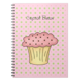 Yummy Cup Cake Spiral Notebook