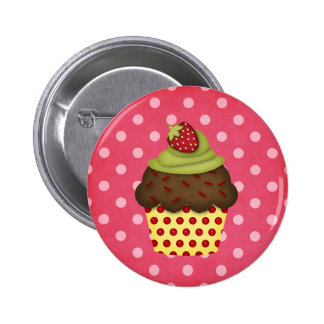 yummy cupcake 2 inch round button