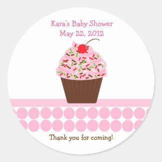 Yummy Cupcake Birthday Baby Shower Favor Sticker