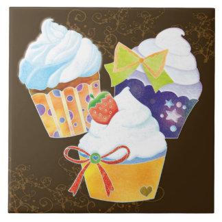 Yummy Cupcakes Chocolate Brown Kitchen TIles