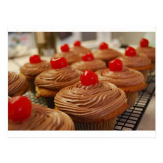 Yummy cupcakes horizontal postcard