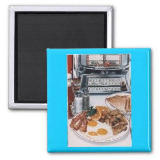 Yummy Diner Food Magnet