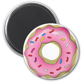 Yummy Donut with Icing and Sprinkles 2 Inch Round Magnet