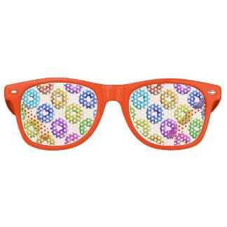 Yummy donuts pattern retro sunglasses