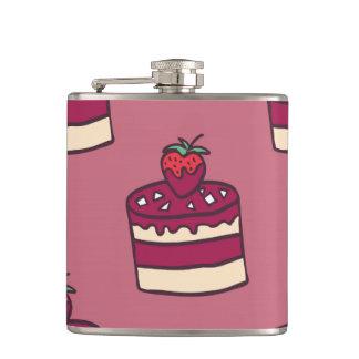 Yummy doodle cupcake pattern. flask