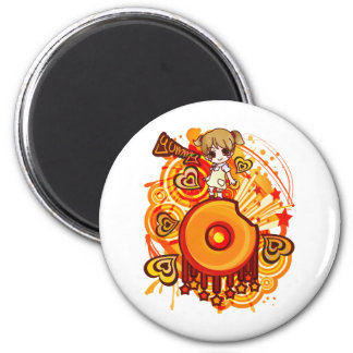 Yummy_Doughnut 2 Inch Round Magnet